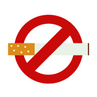 No smoking Logotipo template