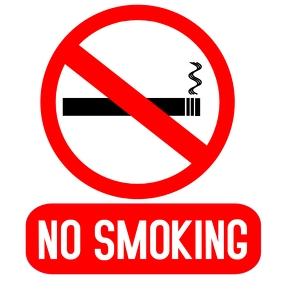 No smoking Album Cover template