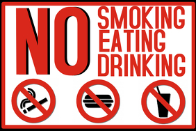 No Smoking Eating Drinking Poster Template