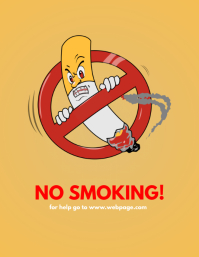 no smoking funny sign template