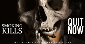 No smoking kills sign facebook shared image template free
