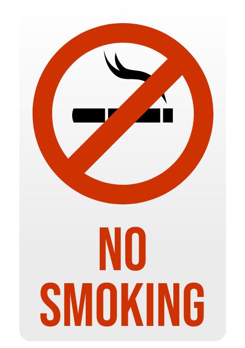 No Smoking Sign A4 template