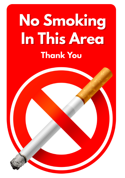 copy of no smoking sign