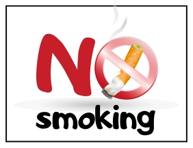 No Smoking Sign Рекламная листовка (US Letter) template