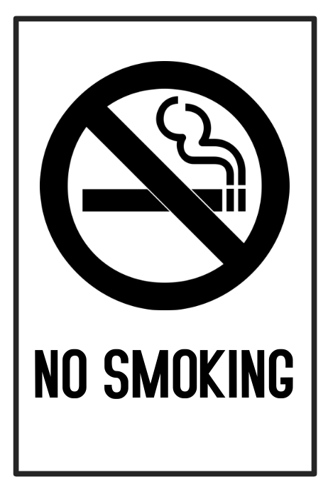 image regarding Sign Templates called No smoking cigarettes signal template free of charge PosterMyWall