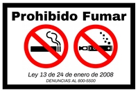 No Smoking Sign-Spanish Poster template