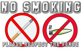 NO SMOKING WAll Template