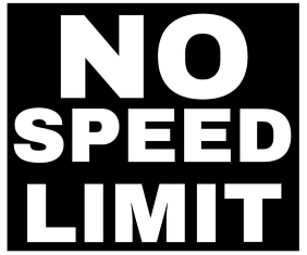 NO SPEED LIMIT SIGN TEMPLATE Rectángulo Mediano