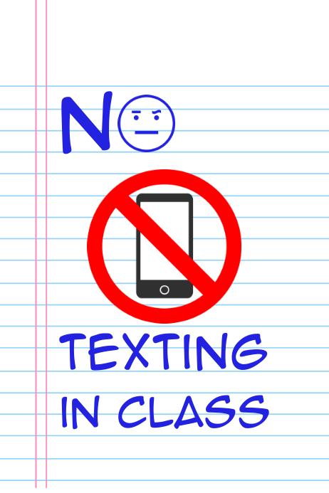No Texitng