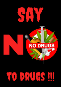 No To drugs Poster