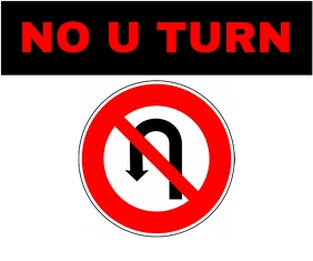 No U turn Template Medium Rectangle