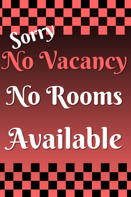 No Vacancy no Rooms available - red template