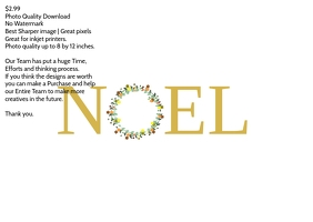 Noel flyer template