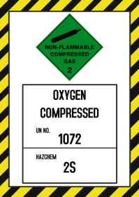 Non-flammable Compressed Sign
