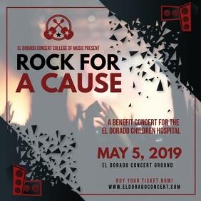 Non-profit Rock Concert Square Ad