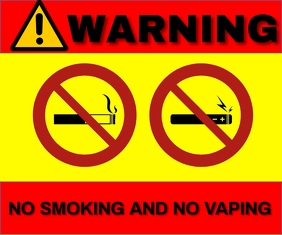 NON SMOKING AND VAPING TEMPLATE Persegi Panjang Sedang