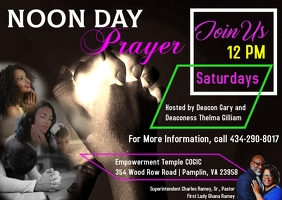 Noon Day Prayer Postcard template