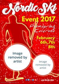 Nordic Ski Event Poster