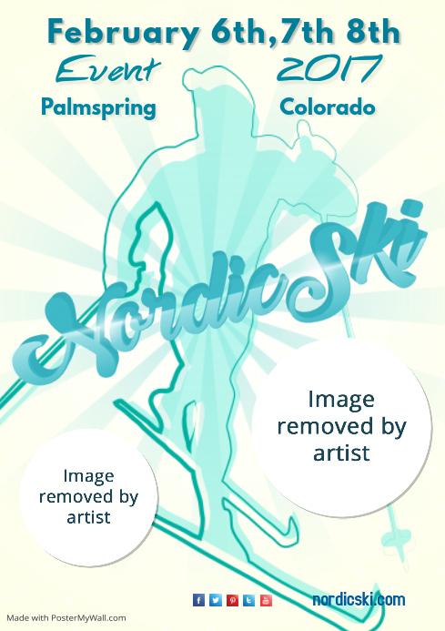 Nordic Ski Poster