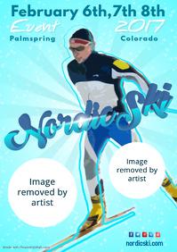 Nordic Ski Poster Template
