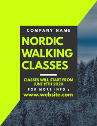 nordic walking classes flyer advertisement template