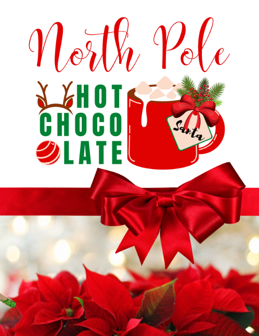 North Pole Flyer template