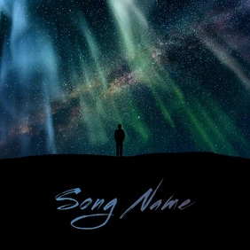 Northern Lights Space album cover video 2 template