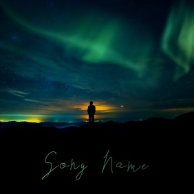 Northern Lights Space album cover video template