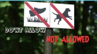 NOT ALLOWED SIGN YouTube Kanaal Omslag Foto template