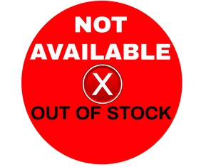 NOT AVAILABLE SIGN TEMPLATE Rettangolo medio