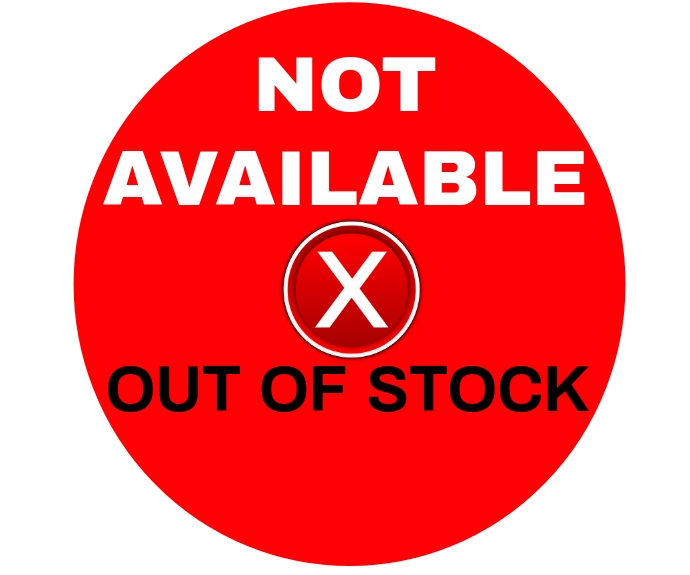NOT AVAILABLE SIGN TEMPLATE Middelgrote rechthoek