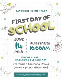 Notebook first Day of School Flyer Template