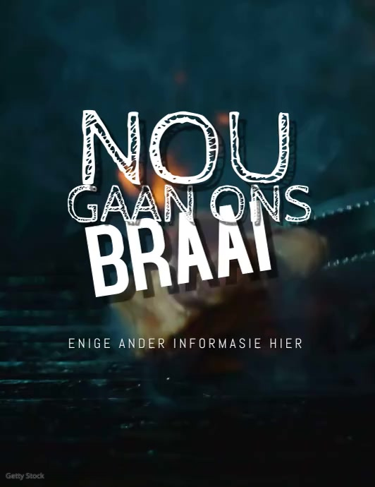 Nou Gaan ons Braai Video Template