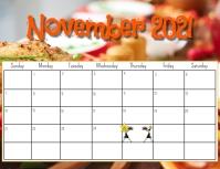 November 2021 calendar Pamflet (Letter AS) template