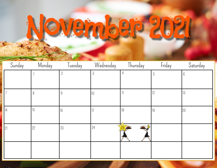 November 2021 calendar Flyer (Letter pang-US) template