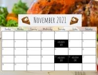 November 2021 Calendar Volante (Carta US) template