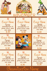 November Events - Disney Theme