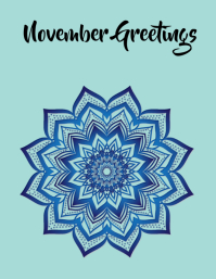 November Greetings Volante (Carta US) template