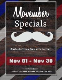 November Movember Barber Special ad Flyer