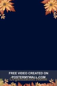 November Upcoming Events Calendar Poster template