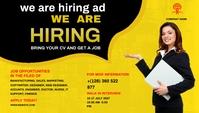 now hiring ad Header Blog template