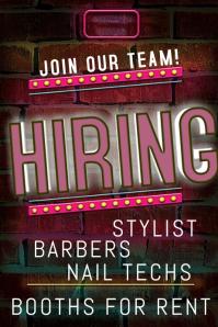 Now hiring beauty salon Poster template