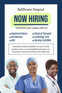Now Hiring Care Professional Poster