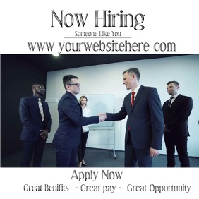 NOW HIRING Square (1:1) template