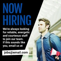 Now Hiring Instagram Plasing template