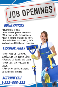 cleaning job advertisement template