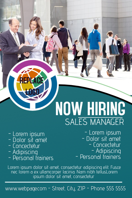 now hiring poster template | PosterMyWall