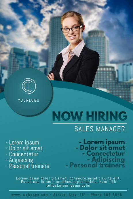 Now Hiring Poster Template for Now Hiring