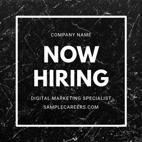 Now Hiring Marble Post template