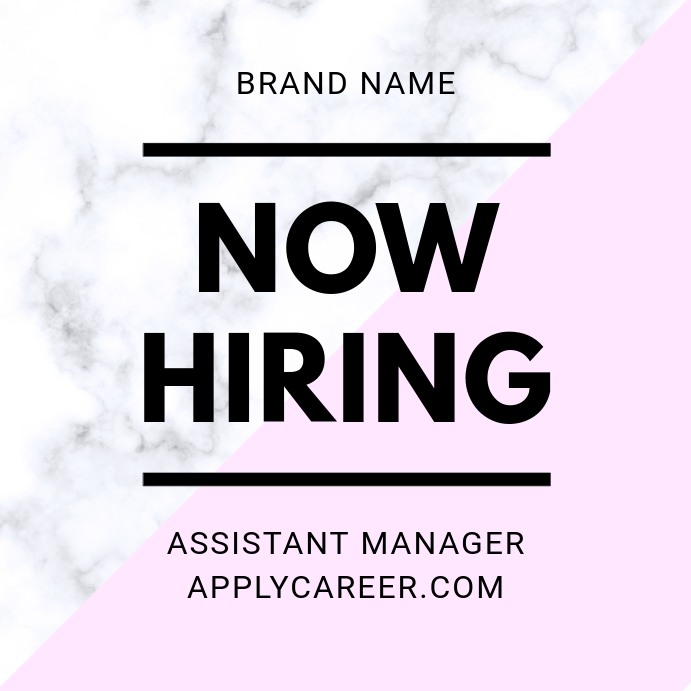 Now Hiring Marble Post Iphosti le-Instagram template